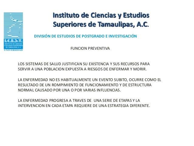 Instituto de Ciencias y Estudios                 Superiores de Tamaulipas, A.C.        DIVISIÓN DE ESTUDIOS DE POSTGRADO E...