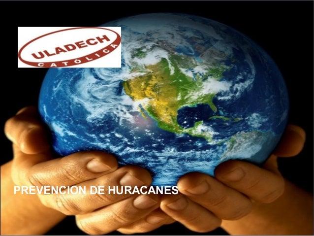 PREVENCION DE HURACANES