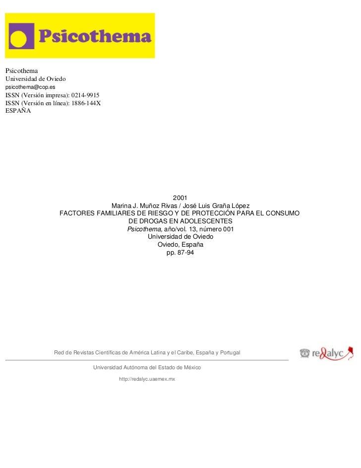 Psicothema Universidad de Oviedo psicothema@cop.es ISSN (Versión impresa): 0214-9915 ISSN (Versión en línea): 1886-144X ES...