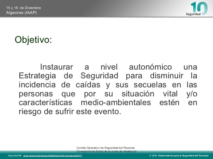 Prevención y actuación ante el riesgo de caídas Slide 3