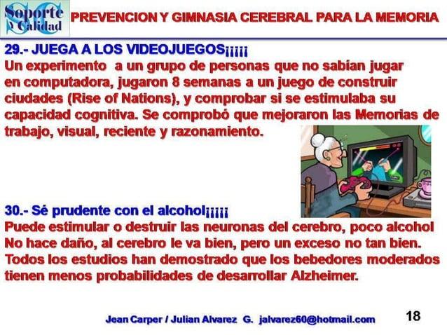 Prevencion  y gimnasia cerebral para la memoria # 2