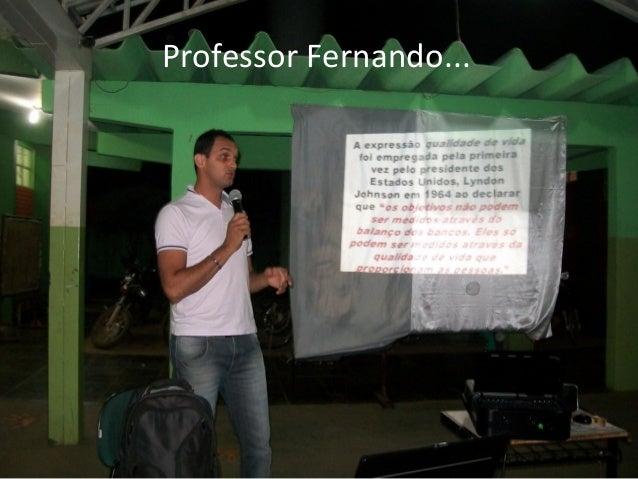 Professor Fernando...