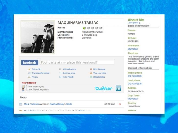 MAQUINARIAS  TARSAC     • Su empresa podrá establecer contactos con profesionales   y mantener conversaciones sobre sus ...