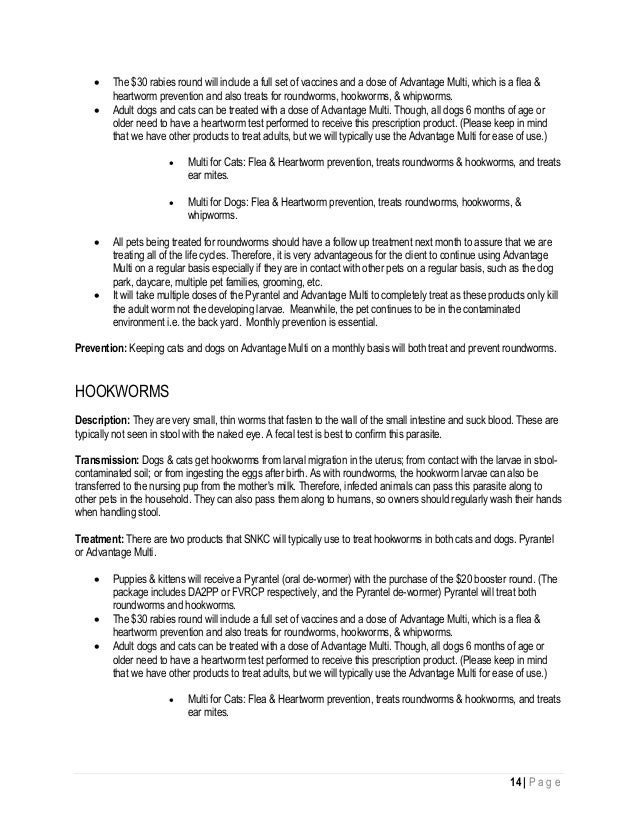 Preventative Pet Health Manual 2015
