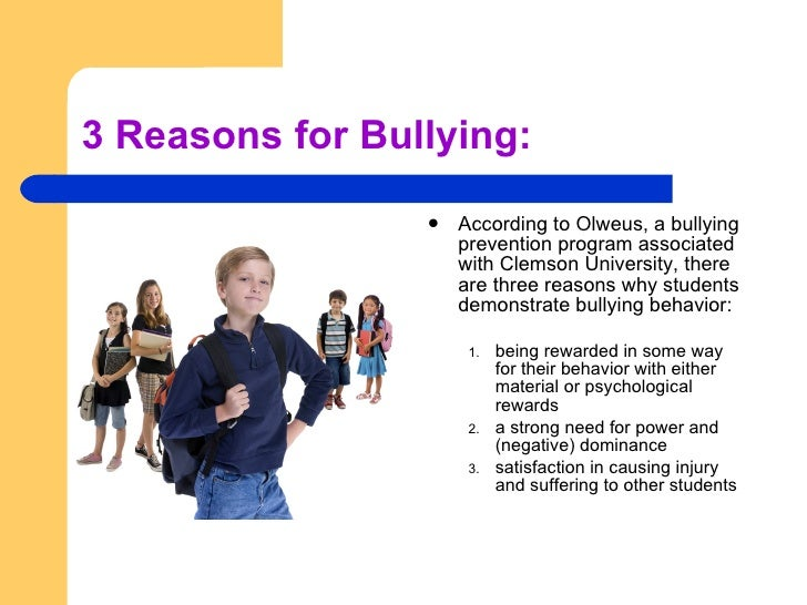 Reasons why bullying is bad
