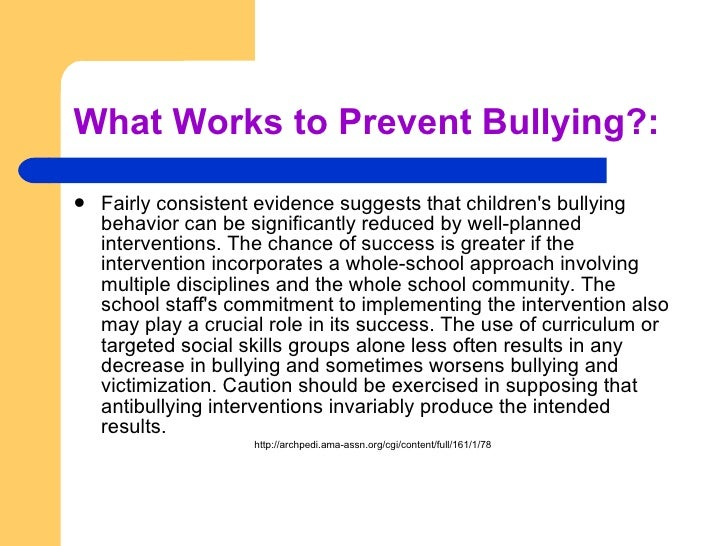 stopping bullying in schools essay Preventing bullying search this site home essay psa work although most victims of bullying in schools are too meek to take matters when a real incident occurs, they are unprepared, shocked, regretful, or dead bullying must stop, for it is destroying the lives and futures of many.
