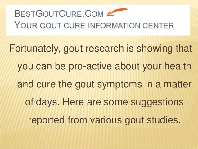 What are some gout cures?