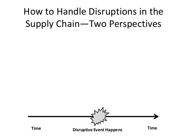 managing supply chain disruptions essay Supply chain's resiliency imperative an essay by lisa when disruptions occur, the global supply chain traditional supply chain management.