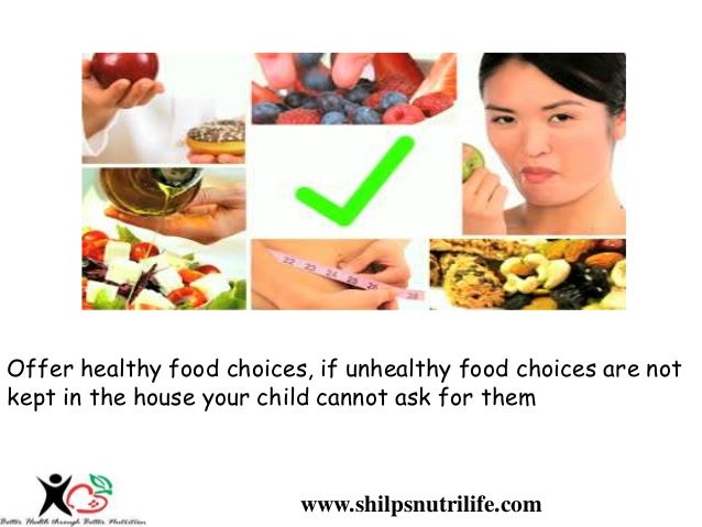 Healthy Food Choices Prevent Kids Obesity