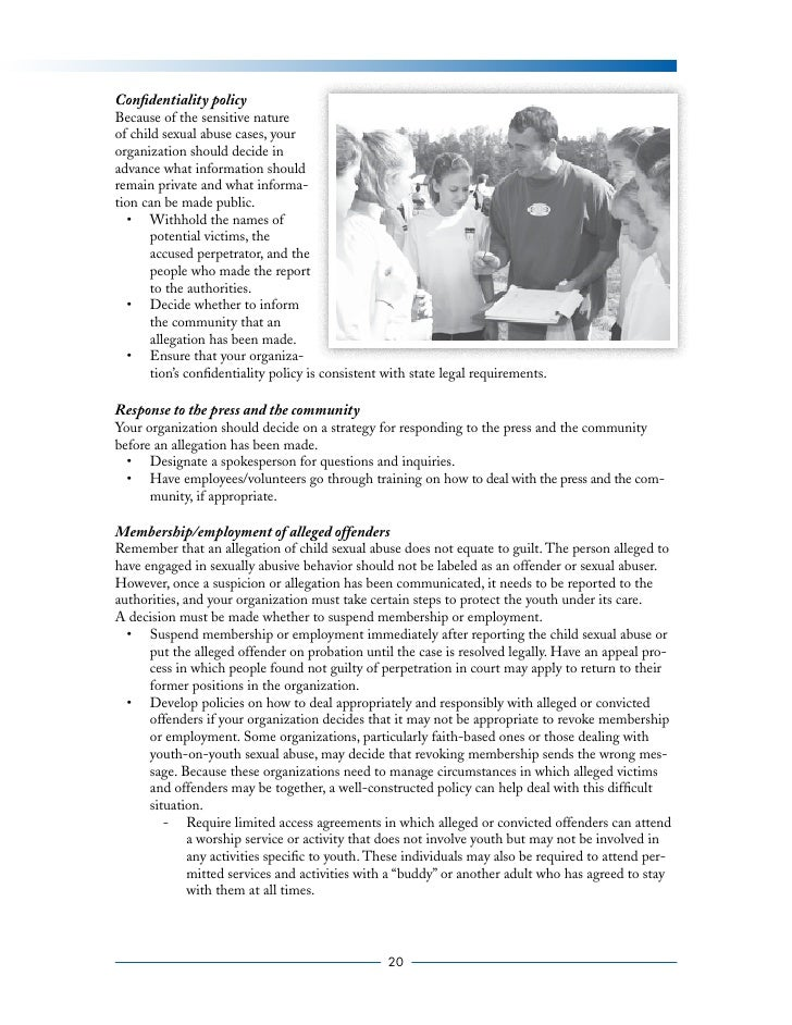 preventing child sexual abuse in america Sexual child abuse is a type of maltreatment requires that all public schools in each state implement a prevention-oriented child sexual abuse program.