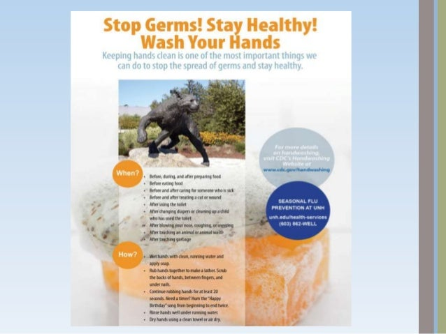 Be a Germ FighterCOVER YOUR MOUTH AND NOSE                    DISPOSE Sneeze/cough into your elbow or    Throw your dirty ...