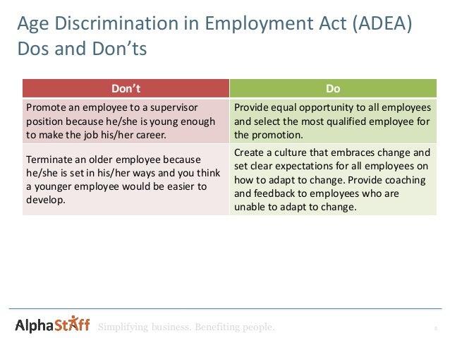 a report on age discrimination in employment act of 1967 Age discrimination in employment act of 1967 prohibits employment discrimination based on age annual report mitsubishi discrimination cases.