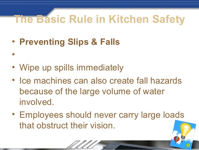 Preventing kitchen accidents1