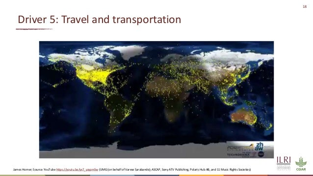 18 Driver 5: Travel and transportation James Horner; Source: YouTube https://youtu.be/yx7_yzypm5w (UMG (on behalf of Vares...