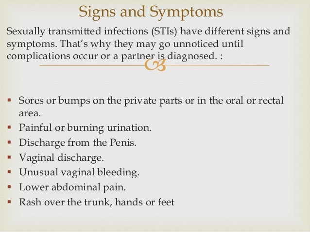 Avoid sexually transmitted diseases