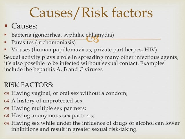 examples of unprotected sex