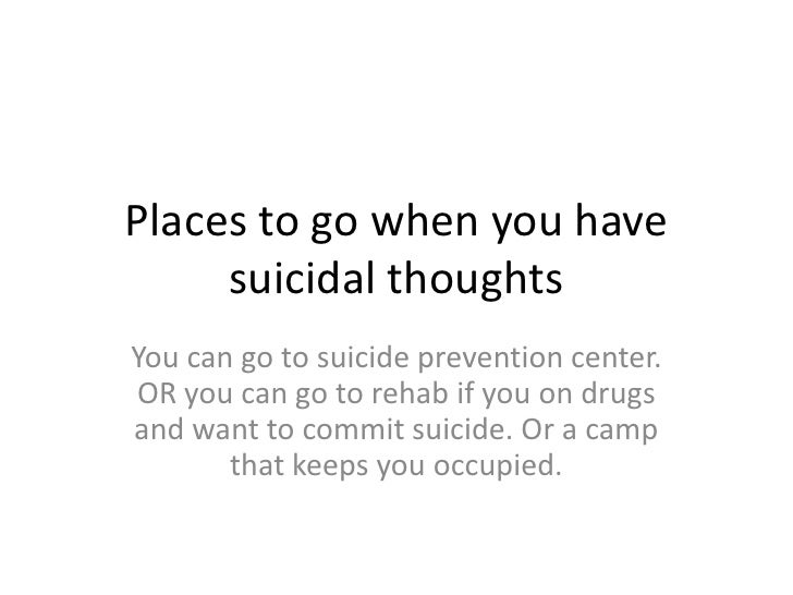 Why should you commit suicide