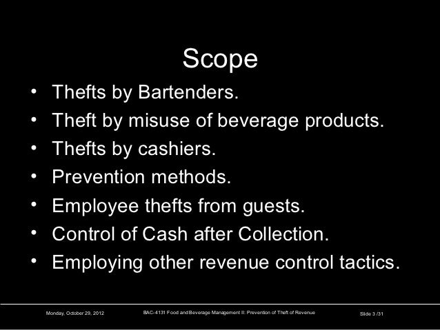 Preventing Theft Of Revenue