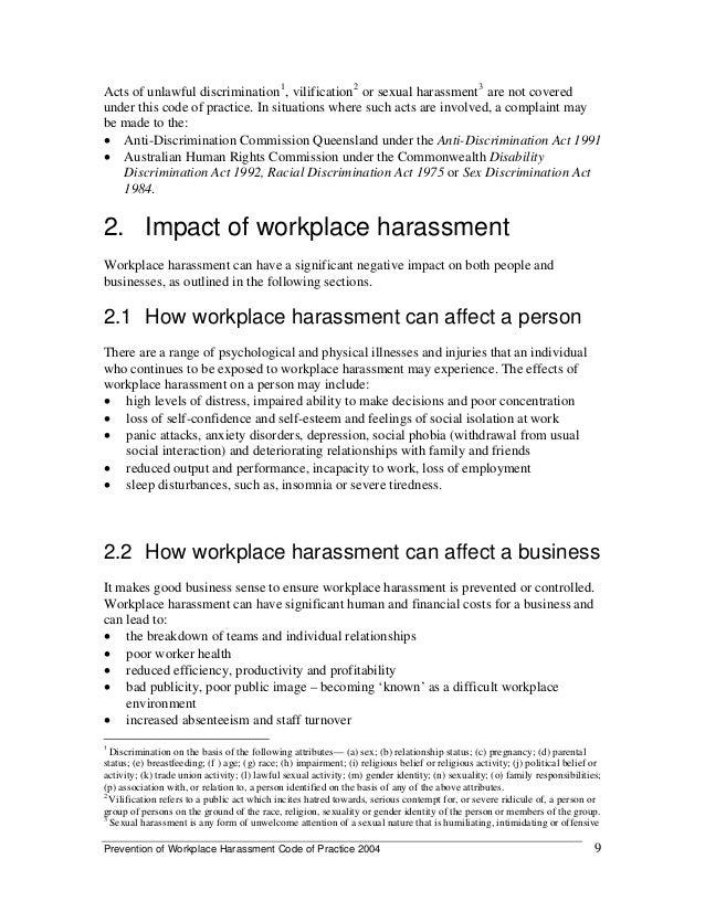 Code of practice on sex discrimination