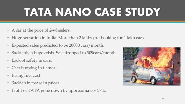 case study on consumer surplus of tata nano Tata nano and tata motors case study tata motors is one of the india's largest automobile makers where manufactures cheap vehicles a firm can reach a superior percentage of profit by supply an identical goods or service at a lower cost (grant, 2010).
