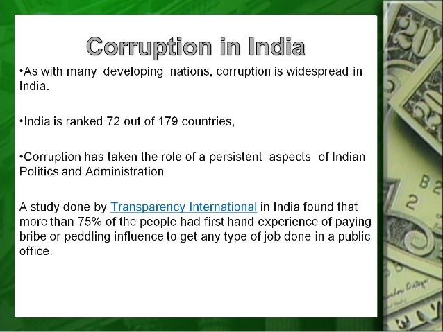 Essay on Corruption in Public Services | India | Public Administration
