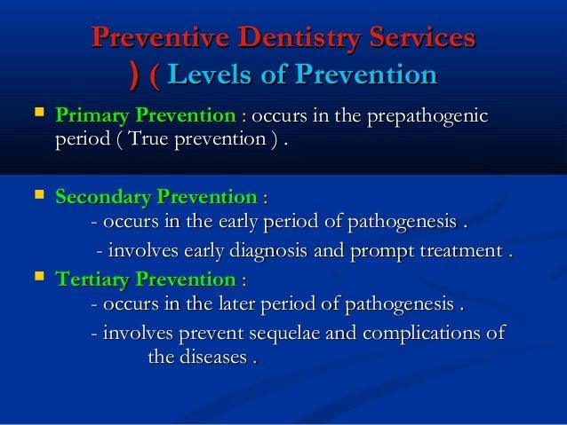 Prevention of dental diseases