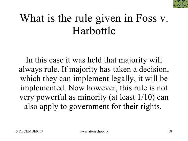 Foss v harbottle essays