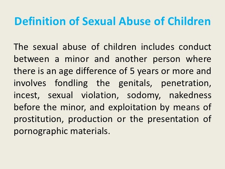 Georgia definition of sexual abuse