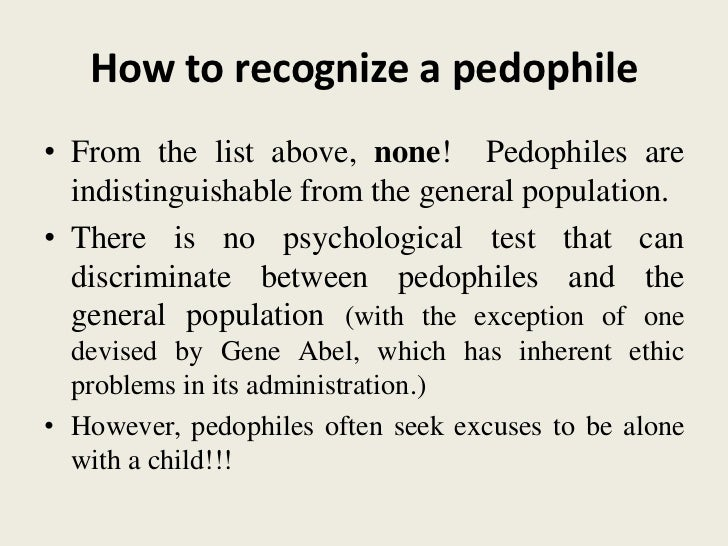 definiere pedifile