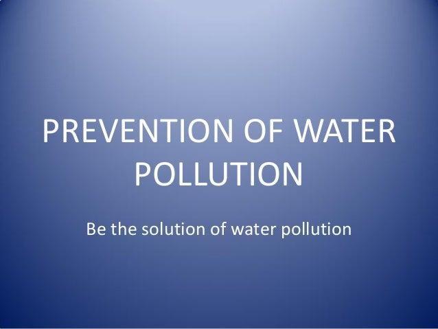 Prevention of water pollution