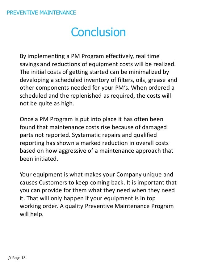 Preventive Maintenance E Book