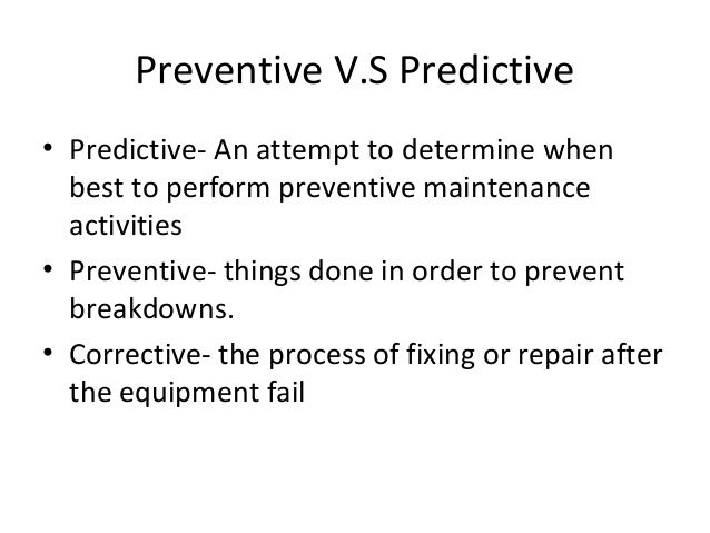 Preventive maintenance final