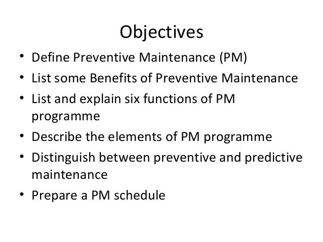 difference between preventive and predictive maintenance pdf