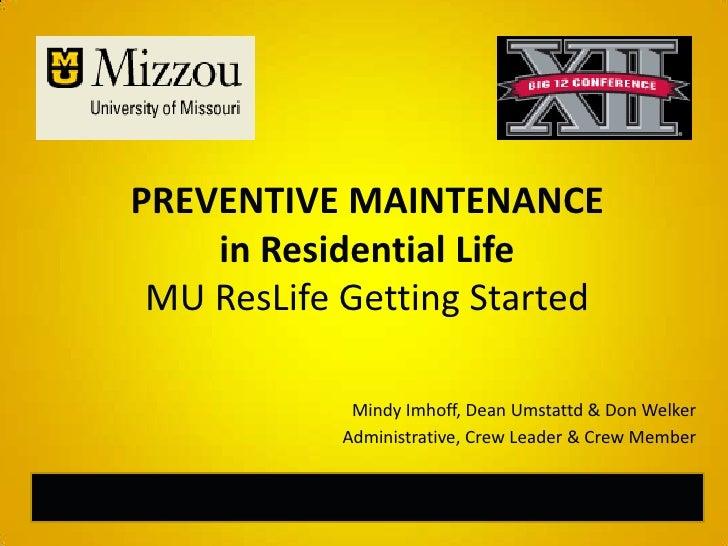 Preventive Maintenance Presentation