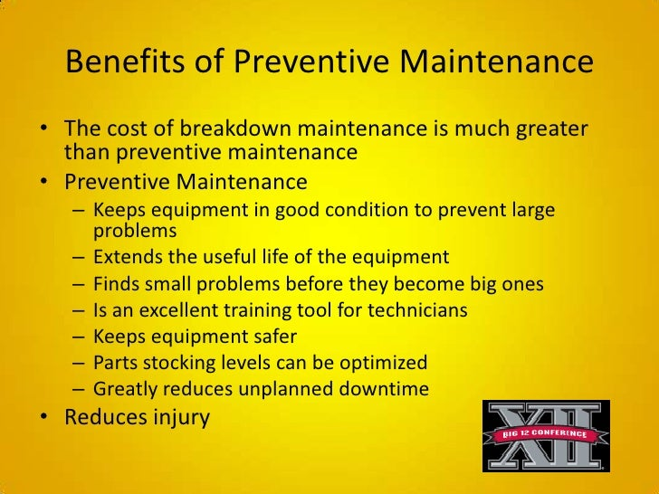 Preventive Maintenance Presentation