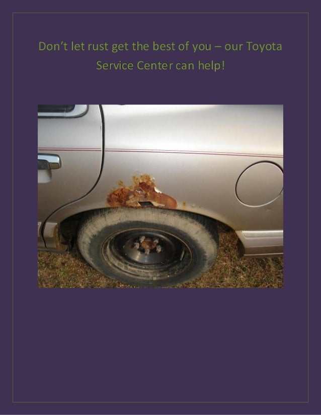 Prevent rust auto body repairs with Toyota of Clermont!