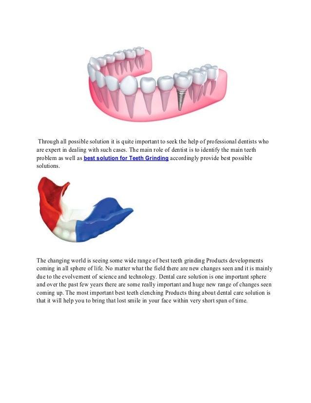 Prevents teeth clenching Slide 2