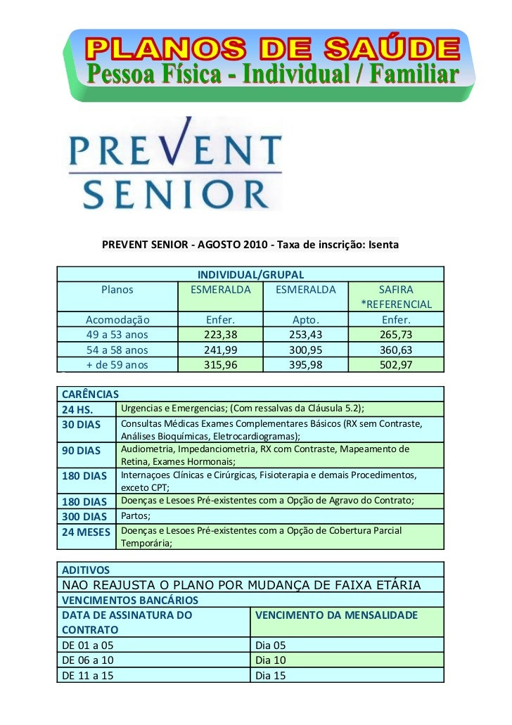 Prevent senior   física  -  novembro11