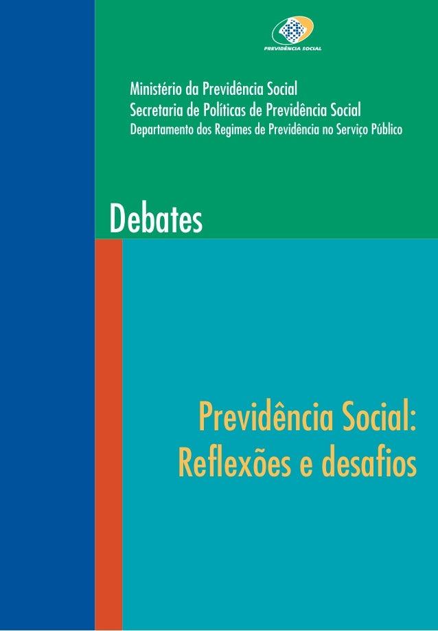 Debates Previdência Social: Reflexões e desafios