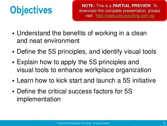 5S Techniques by Operational Excellence Consulting Slide 2