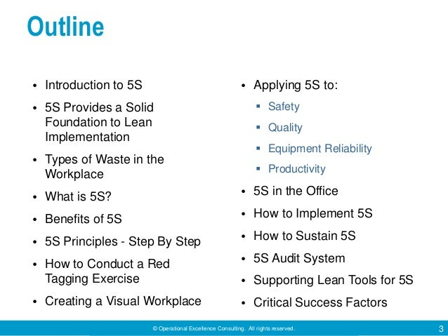 5S Techniques by Operational Excellence Consulting Slide 3