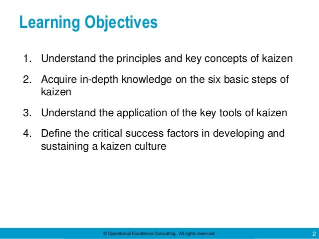 Six Steps of Kaizen by Operational Excellence Consulting Slide 2
