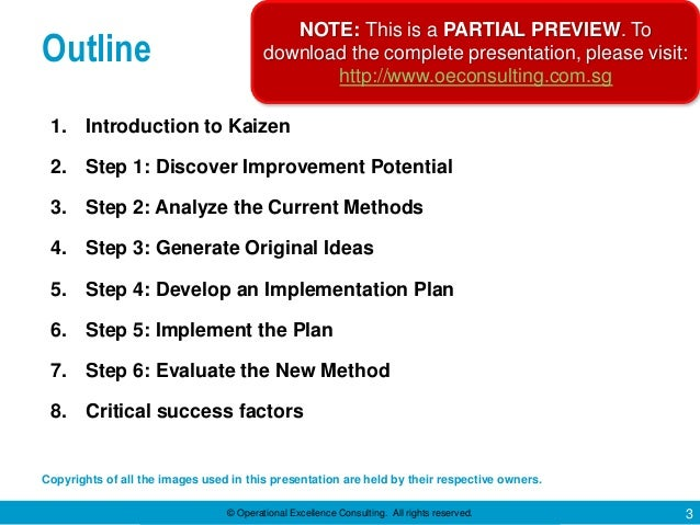 Six Steps of Kaizen by Operational Excellence Consulting Slide 3