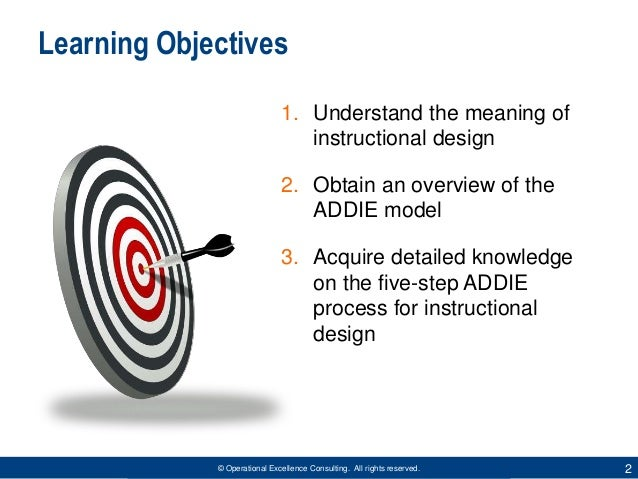 ADDIE Model for Instructional Design by Operational Excellence Consulting Slide 2