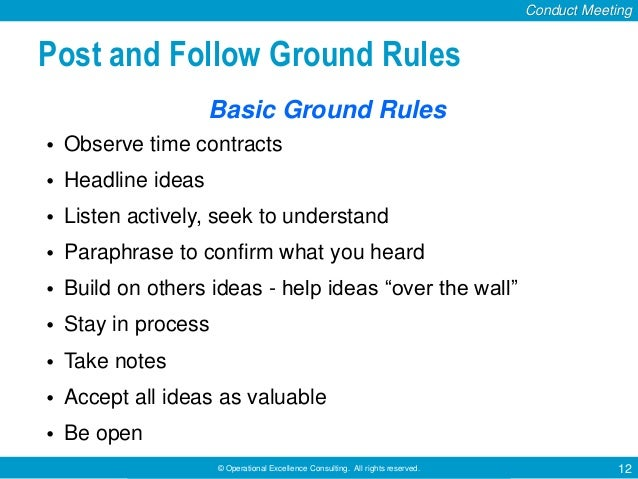 guidelines to follow during a ameeting