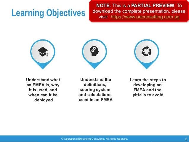 Failure Mode & Effects Analysis (FMEA) Slide 2