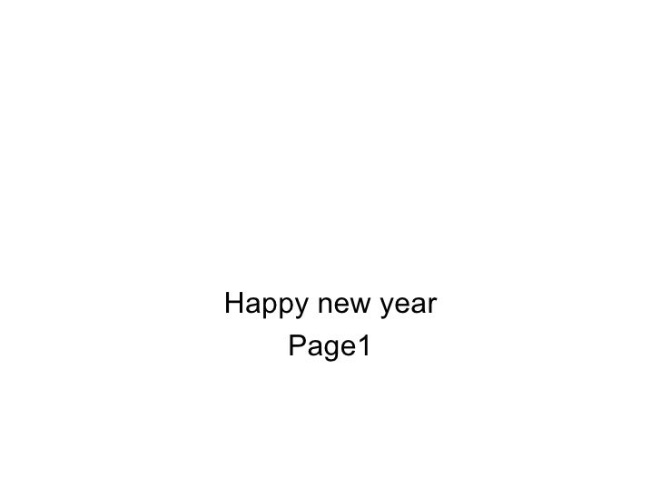 Happy new year Page1
