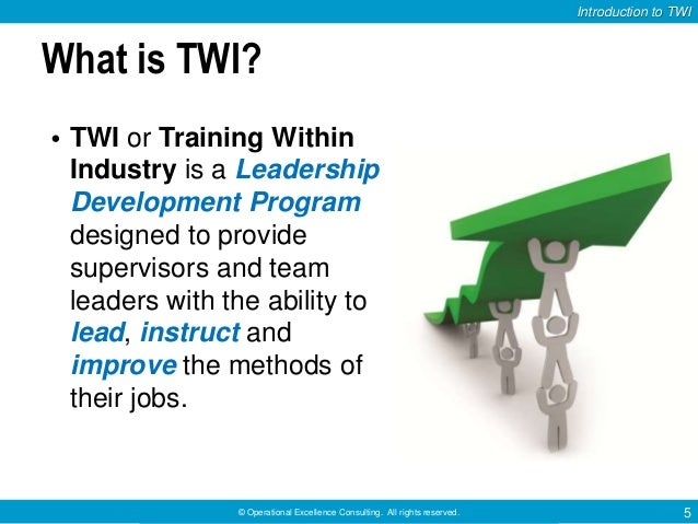 Training Within Industry (TWI): Job Instruction Program by ...