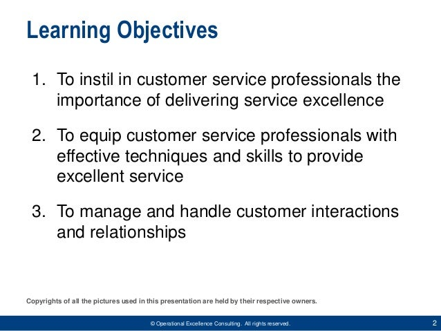 Delivering Service Excellence by Operational Excellence Consulting Slide 2