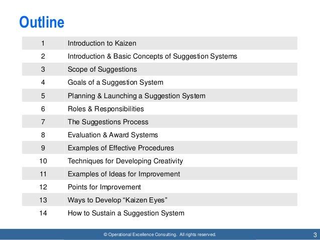 employee suggestion system  kaizen teian